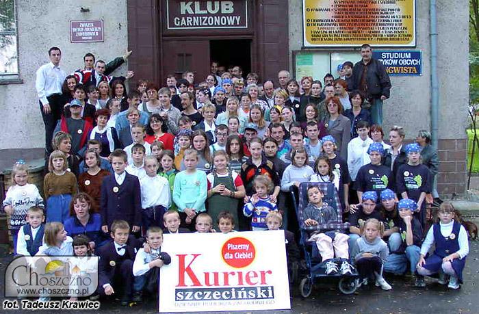 Tobiasz Carewicz 17 lat temu (w pierwszym rzędzie, na wózku)
