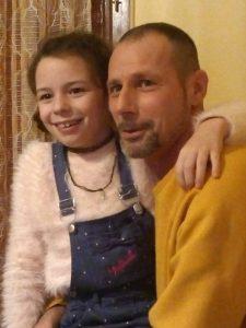 Rysiek Andrzejewski z córką Mają